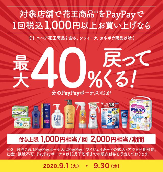 【2020年9月】 9月のキャンペーンはすごい!PayPay40%還元、d払い30%還元、au Pay20%還元など